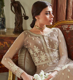 Beige Designer Embroidered Lehenga Style Wedding Anarkali Suit-Saira's Boutique