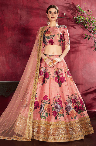 Mauve Purple Designer Heavy Embroidered Net Wedding & Bridal Lehenga