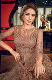 Brandy Rose Designer Heavy Embroidered Net Wedding Anarkali Gown-Saira's Boutique
