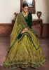 Dark Green & Olive Green Designer Embroidered Kurti Style Lehenga-Saira's Boutique