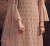 Dusty Mauve Designer Embroidered Georgette Palazzo Suit-Saira's Boutique
