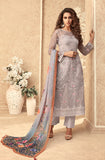 Dusty Mauve Designer Embroidered Party Wear Pant Suit-Saira's Boutique