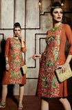 Dark Orange Embroidered Pashmina Kurti - Saira's Boutique