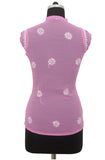 Pink Georgette Top with Chikankari Embroidery - Saira's Boutique - 2