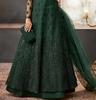 Green Designer Heavy Embroidered Net Wedding Layered Anarkali Gown-Saira's Boutique