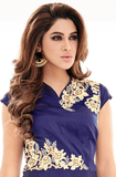 Indigo Blue Designer Embroidered Georgette Kurti-Saira's Boutique