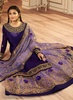 Indigo Purple Designer Heavy Embroidered Kurti Style Lehenga-Saira's Boutique