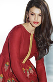 Brick Red Embroidered Pashmina Kurti - Saira's Boutique - 2