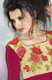 Magenta Embroidered Pashmina Kurti - Saira's Boutique - 2