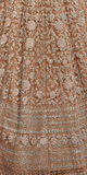 Light Brown Designer Heavy Embroidered Net Bridal Anarkali Gown-Saira's Boutique