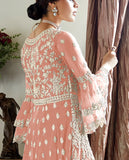 Light Peach Designer Heavy Embroidered Net Wedding Sharara Suit-Saira's Boutique