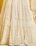 Off White Designer Heavy Embroidered Wedding Anarkali Suit-Saira's Boutique
