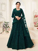 Peacock Green Designer Heavy Embroidered Bridal Lehenga-Saira's Boutique