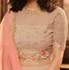 Pink Mauve Designer Heavy Embroidered Net Wedding & Bridal Lehenga-Saira's Boutique