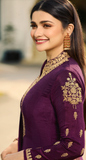 Purple Designer Embroidered Silk Party Wear Anarkali Suit-Saira's Boutique