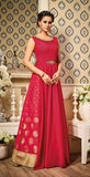Red Designer Silk Evening Gown-Saira's Boutique