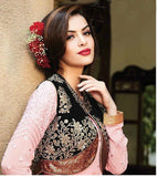Pink & Black Floor Length Anarkali Suit - Saira's Boutique