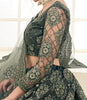 Sage Green Designer Heavy Embroidered Bridal Lehenga-Saira's Boutique