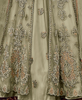 Sage Green Designer Embroidered Satin Bridal Anarkali Gown-Saira's Boutique