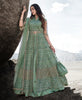 Sea Green Designer Embroidered Wedding Lehenga Style Anarkali Suit-Saira's Boutique