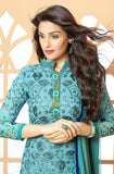 Sky Blue Georgette Embroidered Churidar Suit-Saira's Boutique