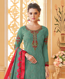 Wintergreen Designer Embroidered Georgette Party Wear Pant Suit-Saira's Boutique