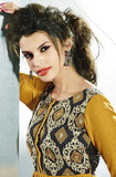 Mustard Yellow Embroidered Pashmina Kurti - Saira's Boutique - 2