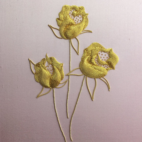'Roses' Goldwork Embroidery Kit Materials Pack