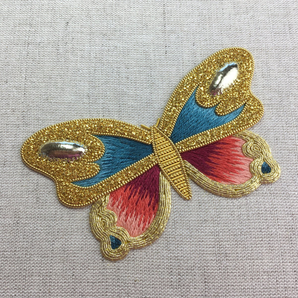 'Butterfly' Silk & Goldwork Embroidery Kit