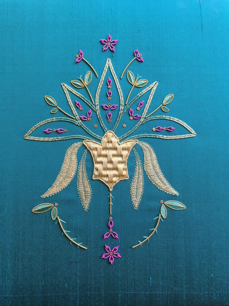 'Exuberant Spirit' Goldwork Embroidery Kit Materials Pack