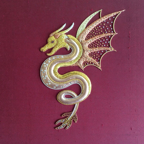 'Wyvern' Goldwork Embroidery Kit Materials Pack