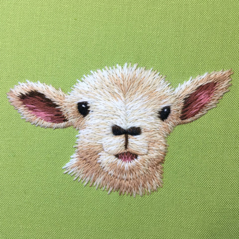 'Spring Lamb' Crewelwork Embroidery Kit