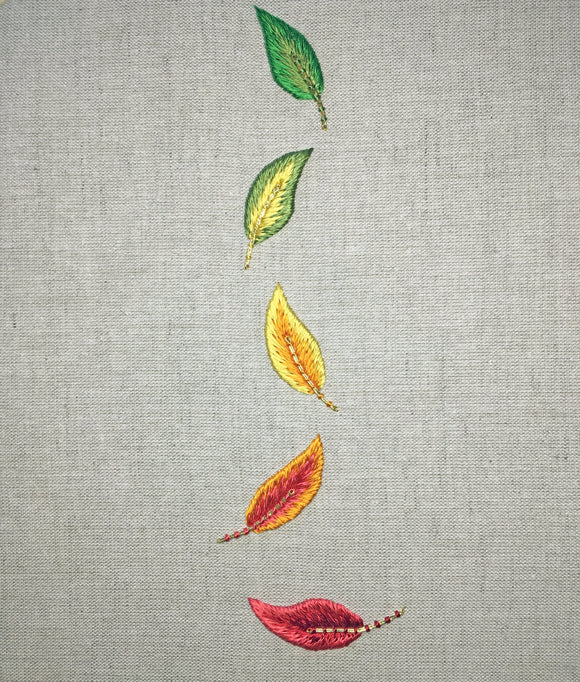 'Changing Leaves' Silk Shading Embroidery Kit