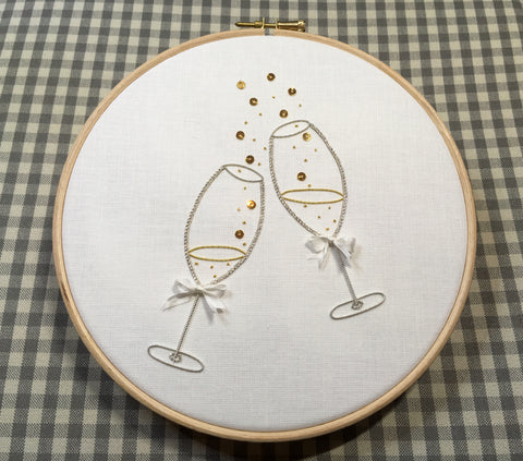 'Raise a Glass' Goldwork Embroidery Kit