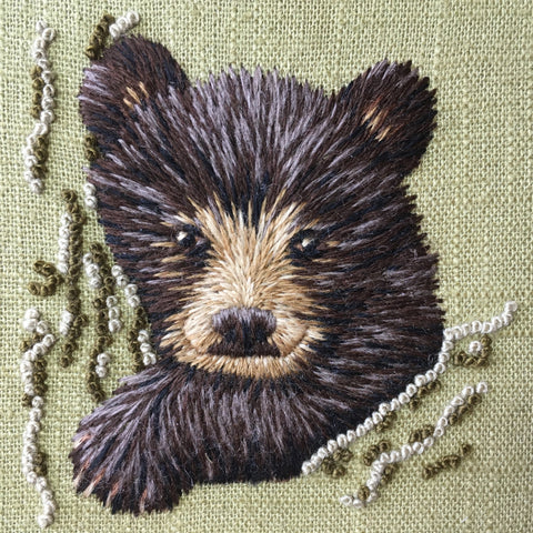 'Little Cub' Crewelwork Embroidery Kit