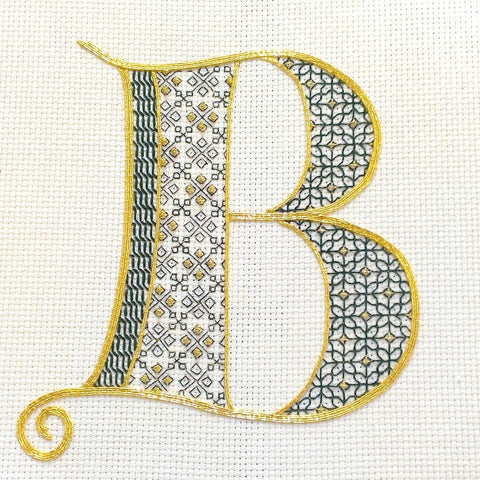 'Tudor Monogram' Blackwork Embroidery Kit