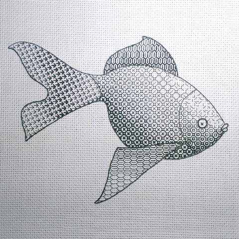 'Goldfish' Blackwork Embroidery Kit