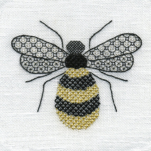 'Honeybee' Blackwork Embroidery Kit