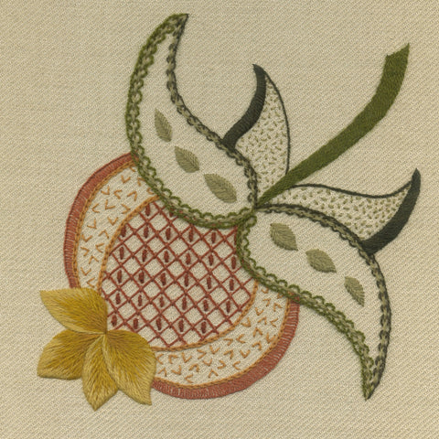 'Pomegranate' Jacobean Crewel Work Embroidery Kit
