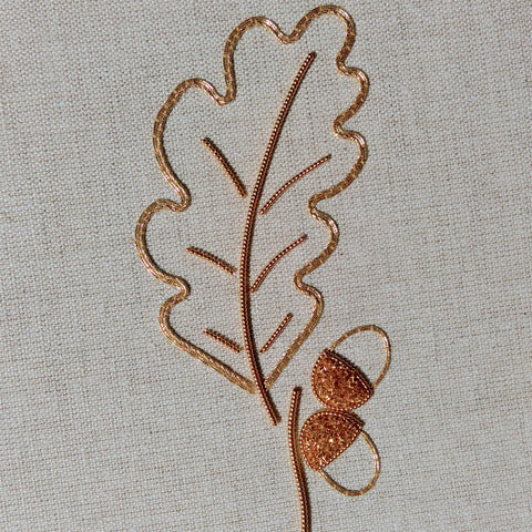 'Acorns' Goldwork Embroidery Kit