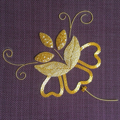 'Jacobean Gold' Goldwork Embroidery Kit