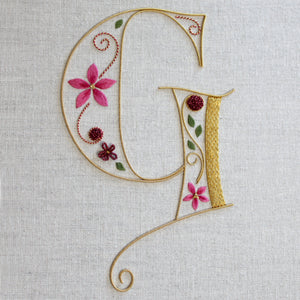 'Monogram' Silk & Goldwork Embroidery Kit