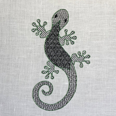 'Gecko' Blackwork Embroidery Kit