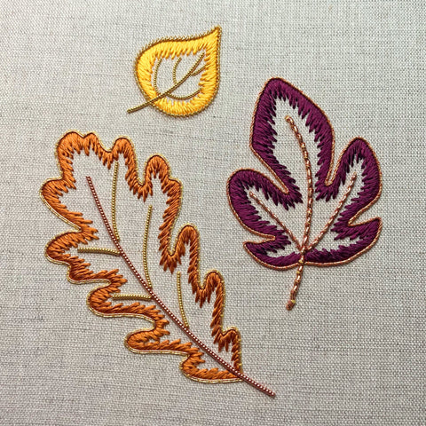 'Autumn Leaves' Silk & Goldwork Embroidery Kit