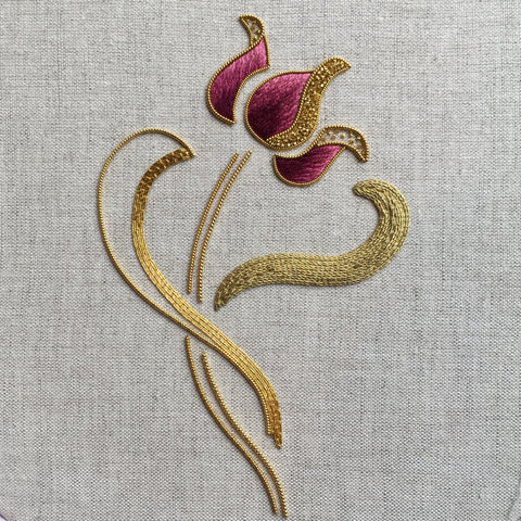 'Tulip' Silk & Goldwork Embroidery Kit
