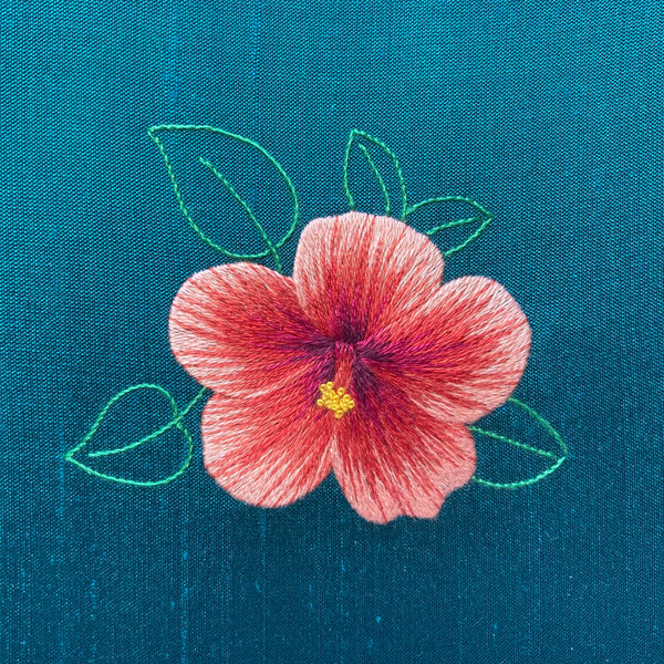 'Hibiscus' Silk Shading Embroidery Kit