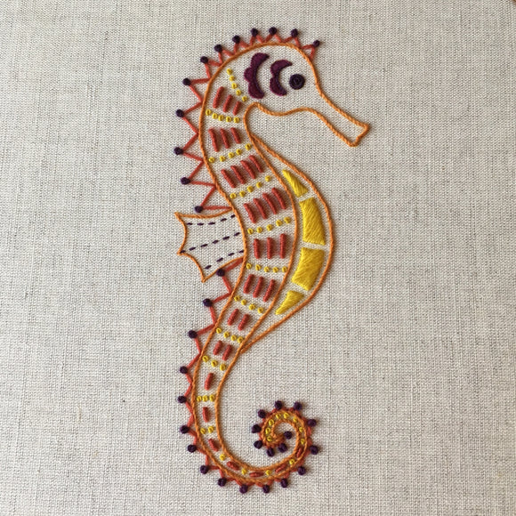 'Seahorse' Crewel Work Embroidery Kit