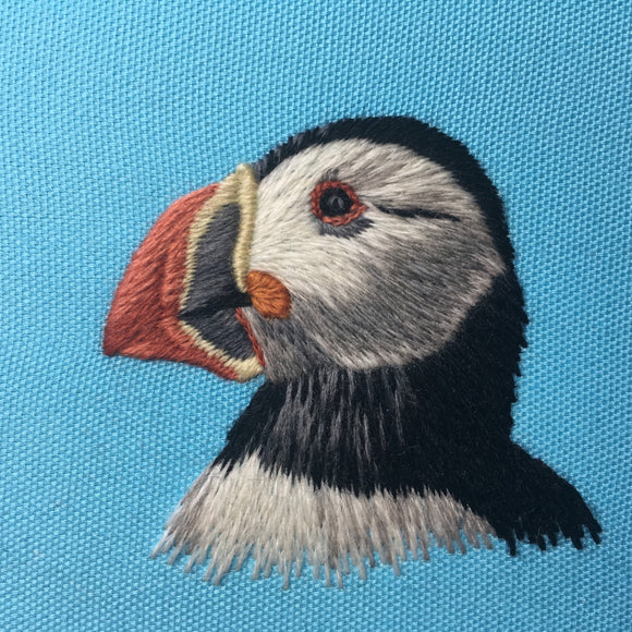 'Puffin Parade' Crewelwork Embroidery Kit