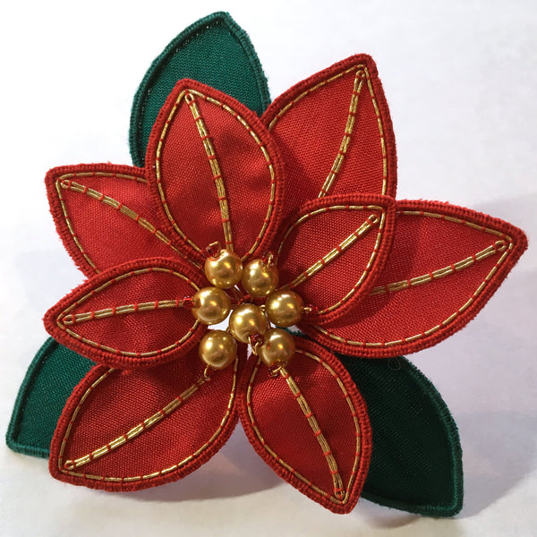 'Poinsettia' Stumpwork Embroidery Kit