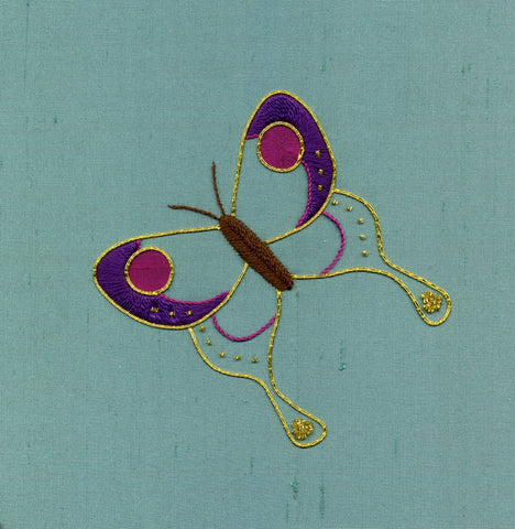 'Butterfly' Introduction to Silk & Goldwork Embroidery Kit